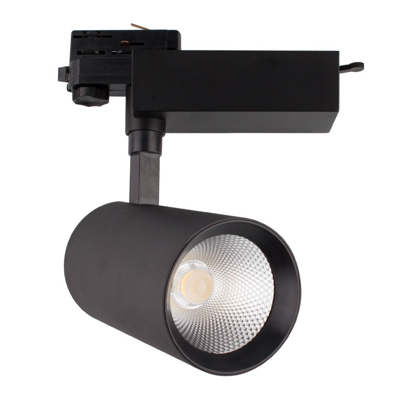 spot led bertha 30w noir pour rail triphas ledkia france. Black Bedroom Furniture Sets. Home Design Ideas