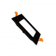 Dalle LED Carrée Extra Plate LED 6W Cadre Noir