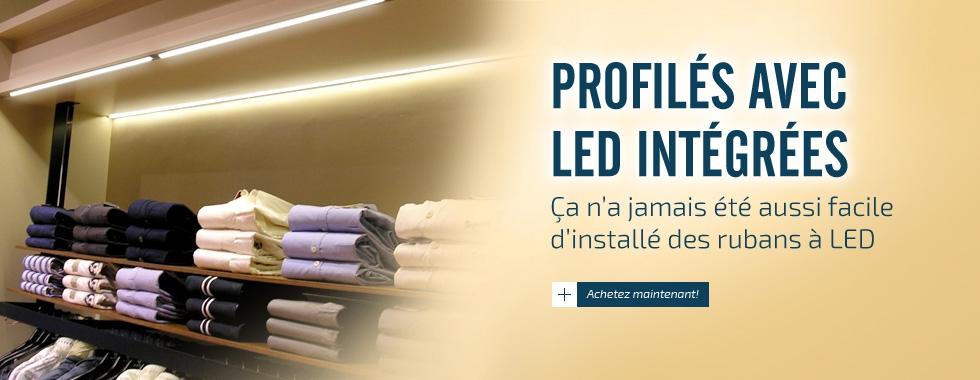 Profilé avec LED Intégré