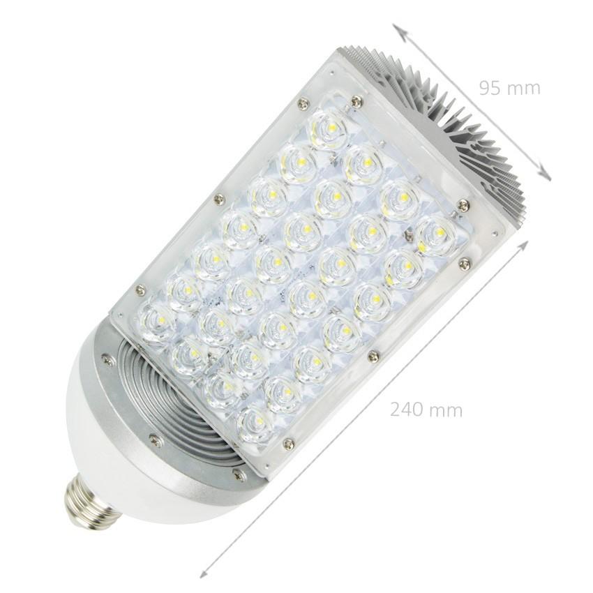 Lampada led illuminazione stradale e27 28w ledkia italia for Illuminazione stradale led