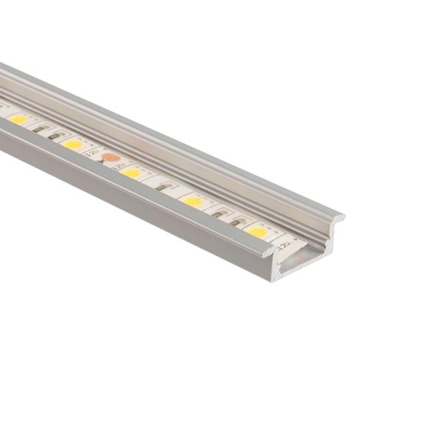Profilo in alluminio 1m per strisce led 046 a56 ledkia for Led a strisce
