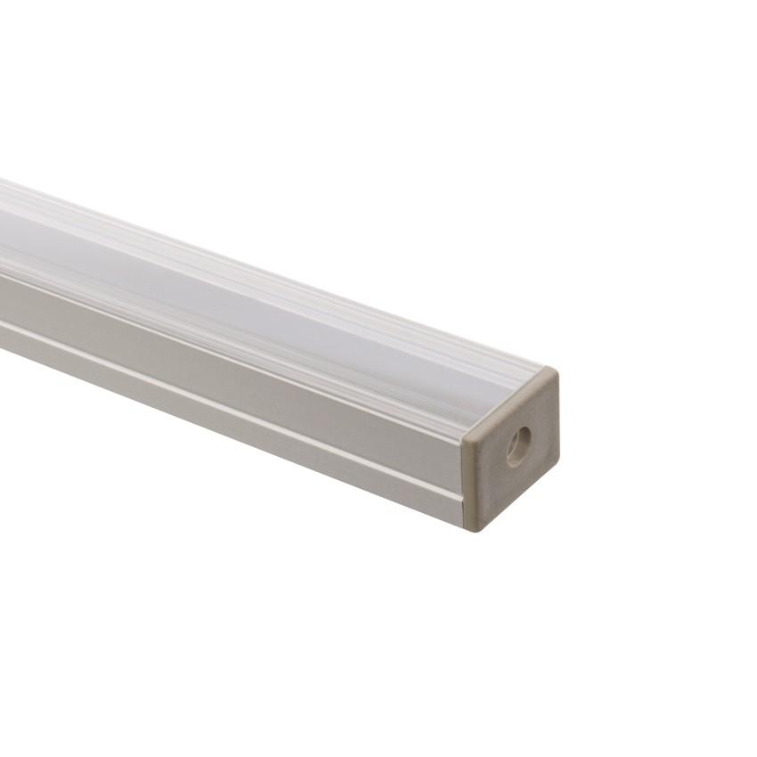 Profilo di alluminio 1m per strisce led 220v monocolore - Strisce led per mobili ...