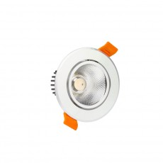 Foco LED Downlight Circular COB 5W Plata