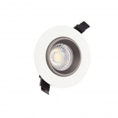 Foco LED Downlight Circular COB 7W Blanco y Negro