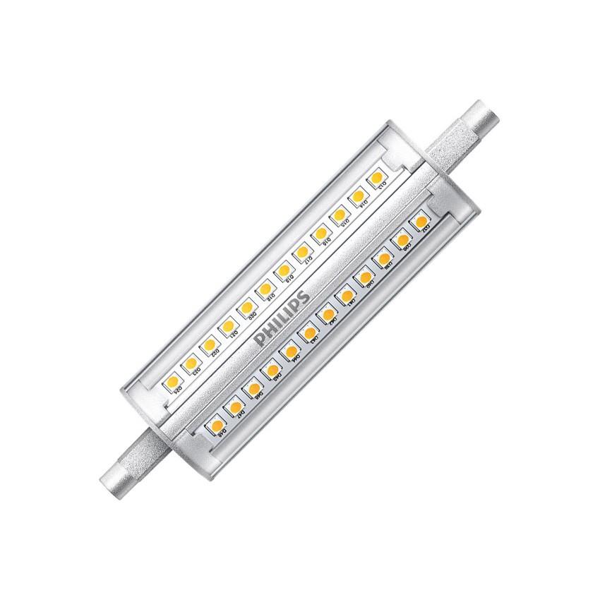 Lampada led r7s philips corepro 118mm 14w ledkia italia for Lampada led r7s 118mm