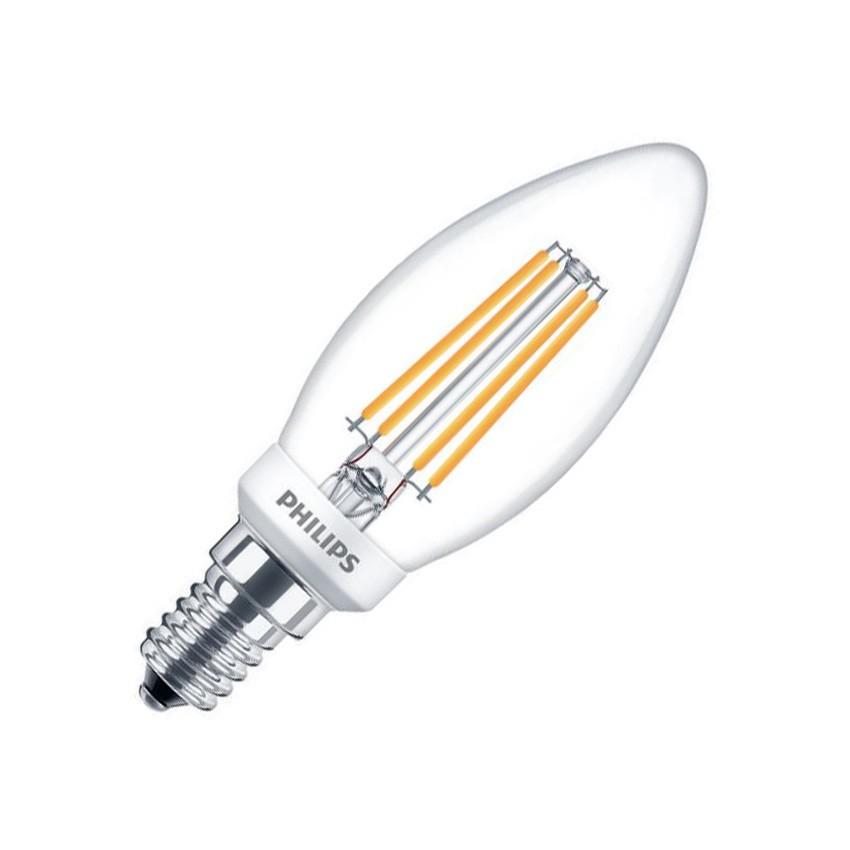 Lampada led e14 b35 regolabile filamento philips candela for Lampada led e14