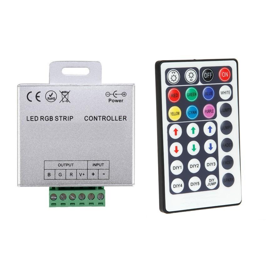 Controller striscia led rgb 12 24v dimmer per telecomando for Striscia led rgb