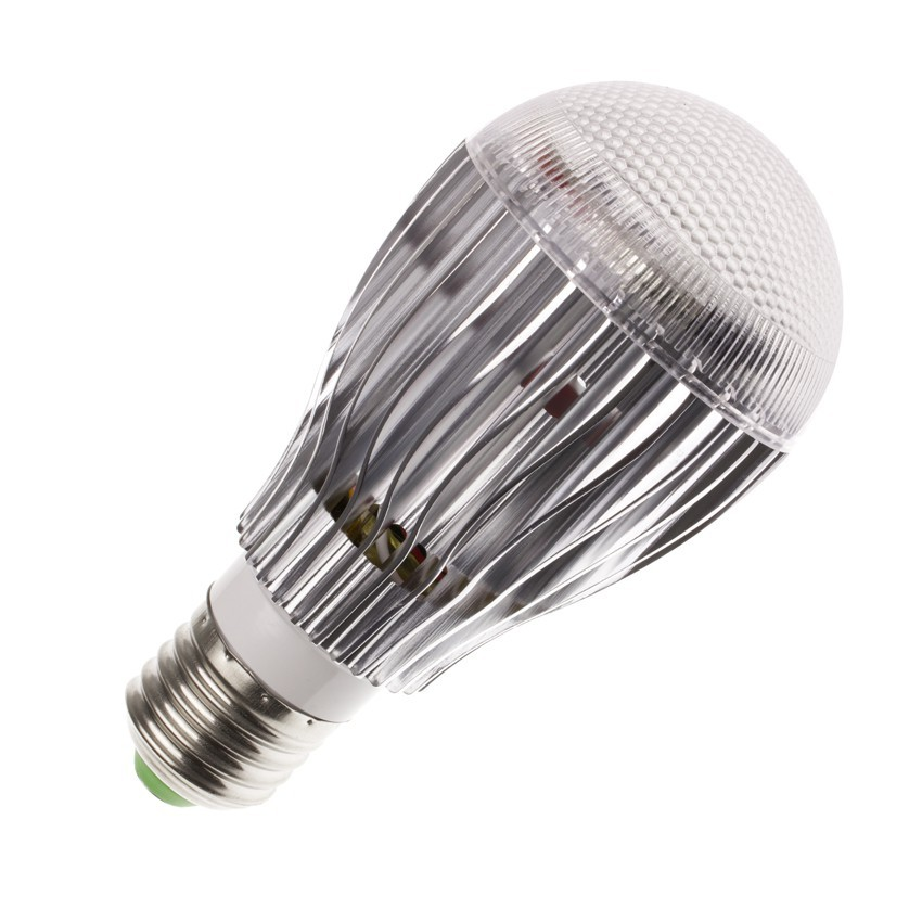 Lampada led e27 rgb 9w ledkia italia for Lampade e27 a led