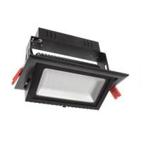 Faretto Proiettore LED Samsung 120lm/W Orientabile Rettangolare 38W Black