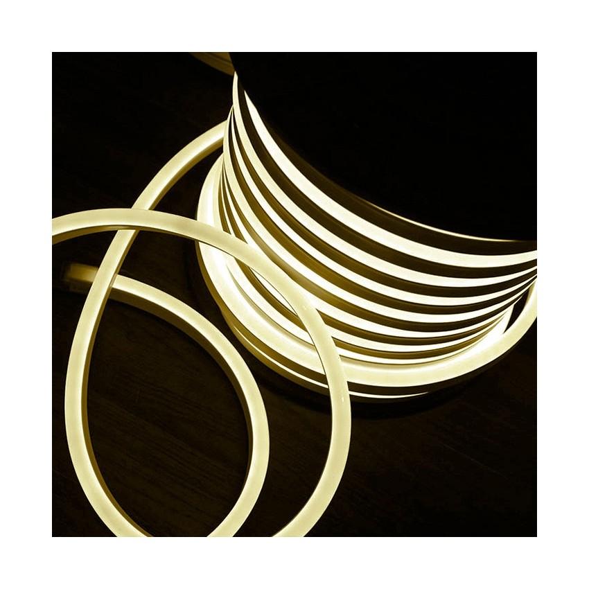 Bobina neon led flessibile 120led m bianco caldo 50 metri for Tubo flessibile a led