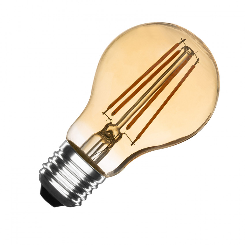 E27 Goud A60 Filament 6W LED-lamp