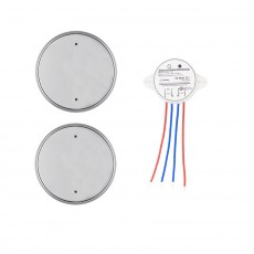 Pulsador Wireless 1 Banda 2x1 Light Plata