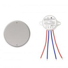Pulsador Wireless  1 Banda Plata