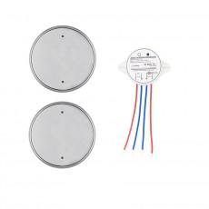 Silver 2x1 Wireless Light Switch
