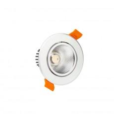 Foco LED Downlight Circular COB 5W Plata