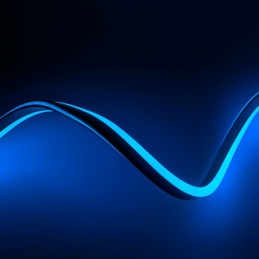 50m Led Flexible Neon Strip In Blue 120led M Ledkia