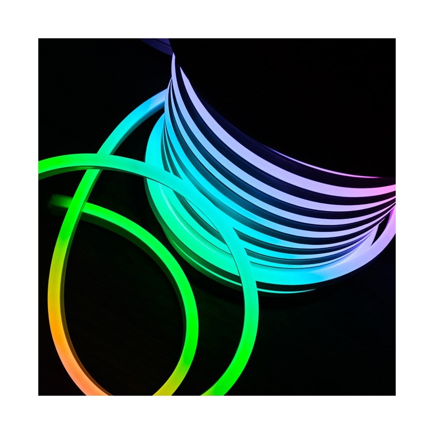 50m rgb led flexible neon strip 120led m ledkia united kingdom. Black Bedroom Furniture Sets. Home Design Ideas