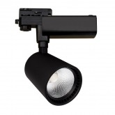Black 30W Mallet LED Spotlight for a Three-Circuit Track