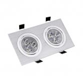 Adjustable Rectangular 2x3x1W LED Spotlight