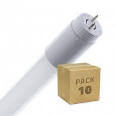 Pack of Glass 600mm 9W T8 LED Tubes with One Side Power (10 Units)