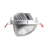 60W Round Adjustable Samsung LED Spotlight in Silver