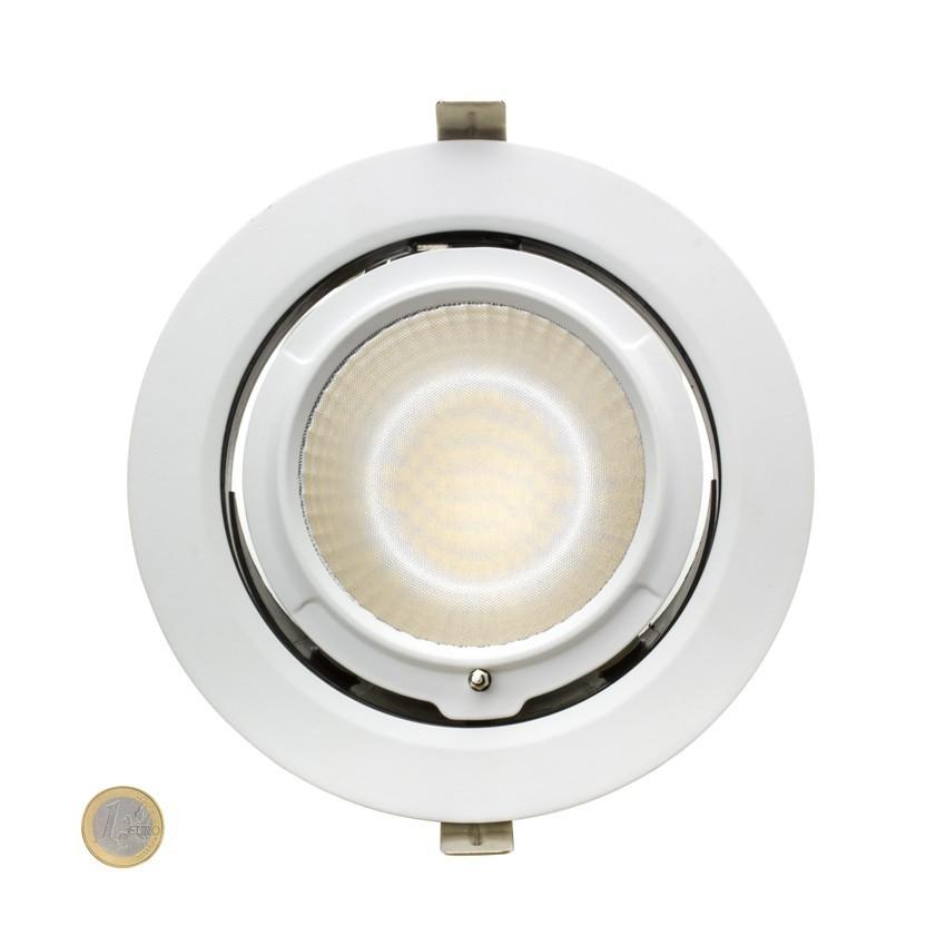 38W Round Adjustable Samsung LED Spotlight 120lm/W