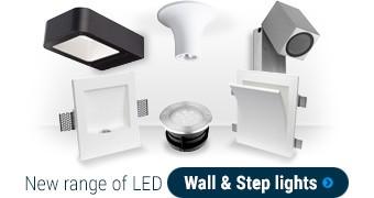 New range of LED Wall & Step lights